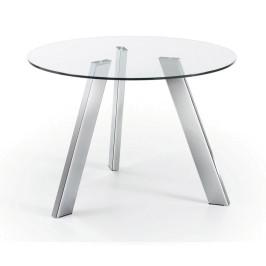 Ronde tafel van glas
