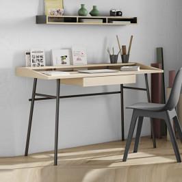 Modern eiken bureau met lade
