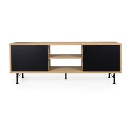 Tv-meubel eiken mat zwart