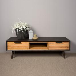 Retro tv-meubel eikenhout 152 cm