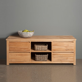 TV meubel hoog model - 4 lades - 160cm