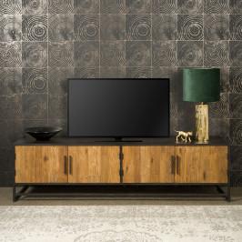 Tv-meubel metaal en teak 200 cm