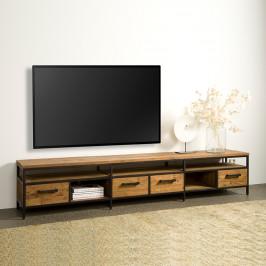 Teakhouten tv-meubel met lades