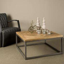 Vierkante salontafel van teakhout