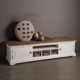 Landelijk tv meubel met manden 180cm