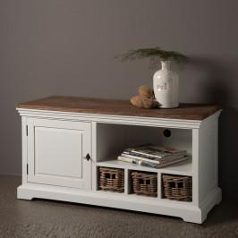 Landelijk tv meubel met manden 120 cm