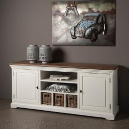 Landelijk tv meubel met manden 168cm