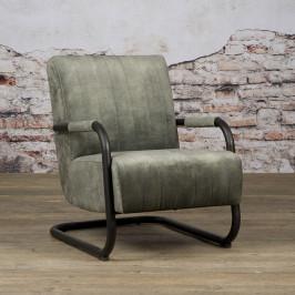 Fluwelen fauteuil buisframe