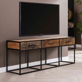 Tv-meubel van hardhout en metaal