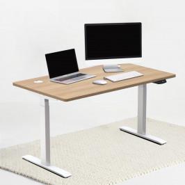 Verstelbaar bureau wit