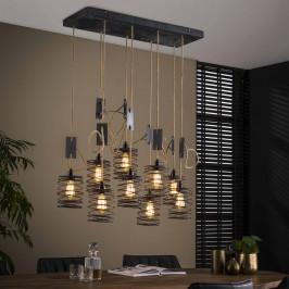 Verstelbare hanglamp met touw