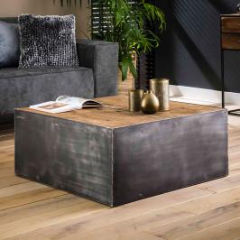 Vierkant blok salontafel industrieel