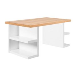 Wit bureau met eiken