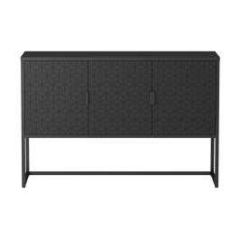 Zwart dressoir modern houtsnijwerk