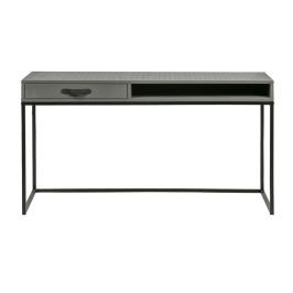 Stoer bureau van grijs hout