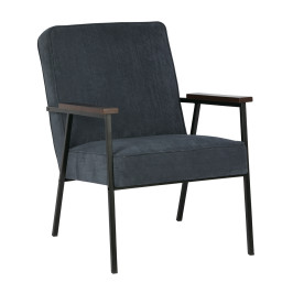 Retro fauteuil ribfluweel