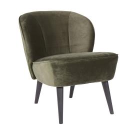 Fluwelen fauteuil