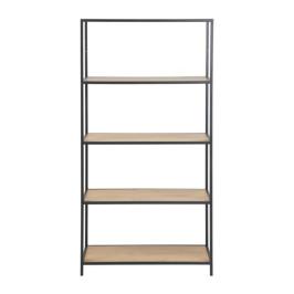 Boekenkast met 5 houten planken