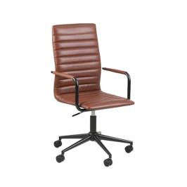Moderne bureaustoel van kunstleer