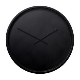 Zwarte klok van staal