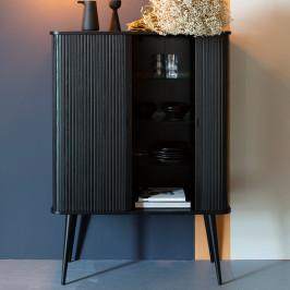 Zwarte design wandkast