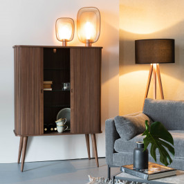 Design wandkast walnoot
