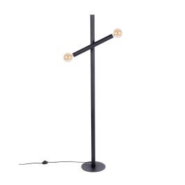 Design vloerlamp mat zwart