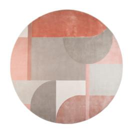 Kleurrijk vloerkleed rond 240 cm