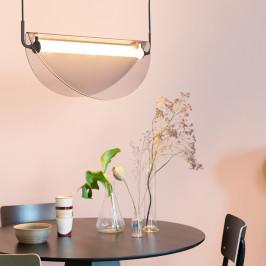 Retro hanglamp gebogen glas