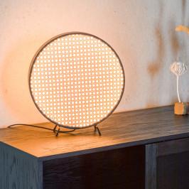 Design tafellamp met webbing
