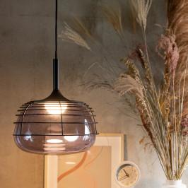 Design hanglamp met rookglas