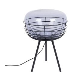 Design tafellamp met rookglas