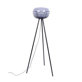 Design vloerlamp met rookglas