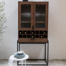 Wandkast met wijnrek