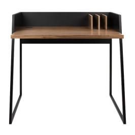 Compact bureau zwart met hout