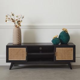 Zwart tv-meubel met webbing