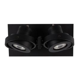 Zwarte dubbele LED spot