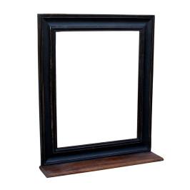 Zwarte spiegel van hout