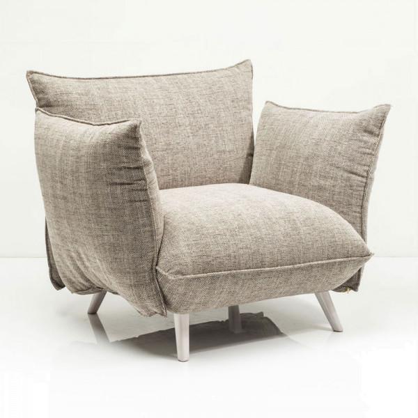 Comfortabele Design Fauteuil.Comfortabele Fauteuil Taupe Kare Design Molly Lumz Nl