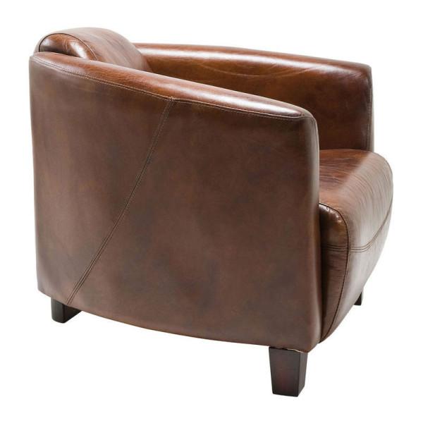 Fauteuil Design Leer.Kare Design Cigar Lounge Fauteuil Van Bruin Leer 76948 Lumz