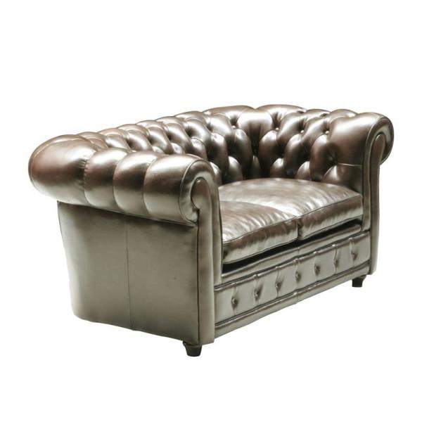 Tweezits Leren Bank.Kare Design Oxford Leren Tweezits Chesterfieldbank 71673 Lumz