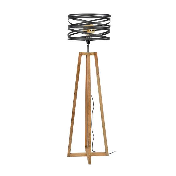 Betere Staande lamp hout met metaal | Santa Roop Grey | LUMZ PZ-61
