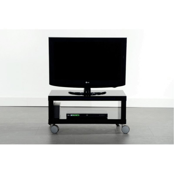 Zwart Tv Meubel Op Wielen.Zwart Hoogglans Tv Meubel Giani Fiore Onlinedesignmeubel Nl