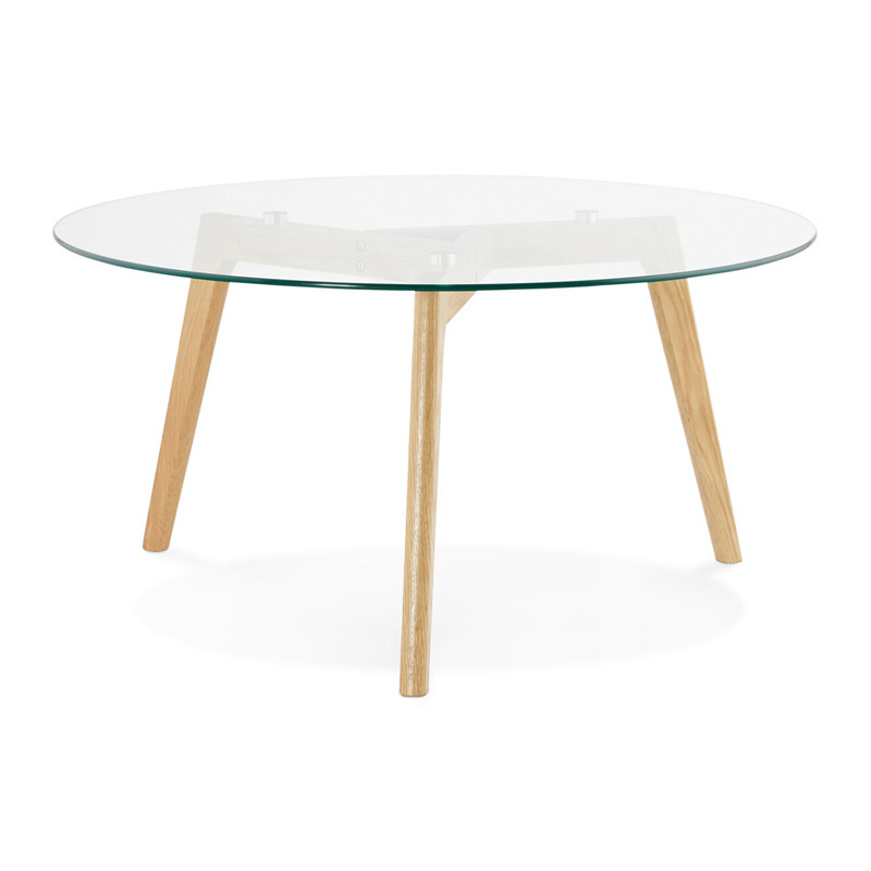 Adagio Savino   Ronde salontafel van glas   Onlinedesignmeubel
