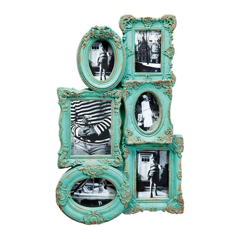 vintage fotolijst turquoise barock chic. Black Bedroom Furniture Sets. Home Design Ideas