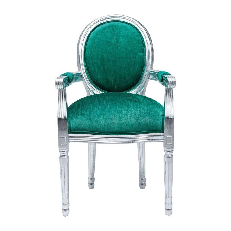 Barok stoel turquoise louis silver kare design louis for Barok stoel