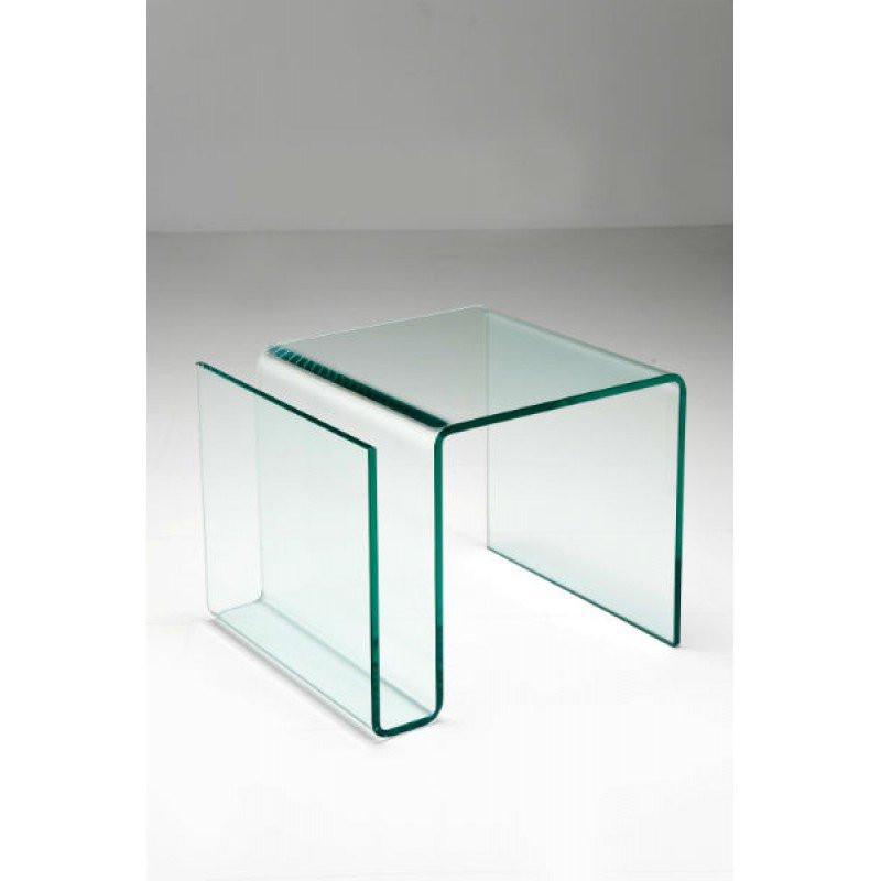 Bijzettafel Van Glas.Bijzettafel Glas Met Krantenbak