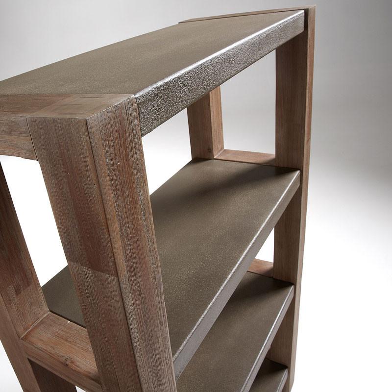 Boekenkast van hout laforma bradley - Boekenkast hout en ijzer ...