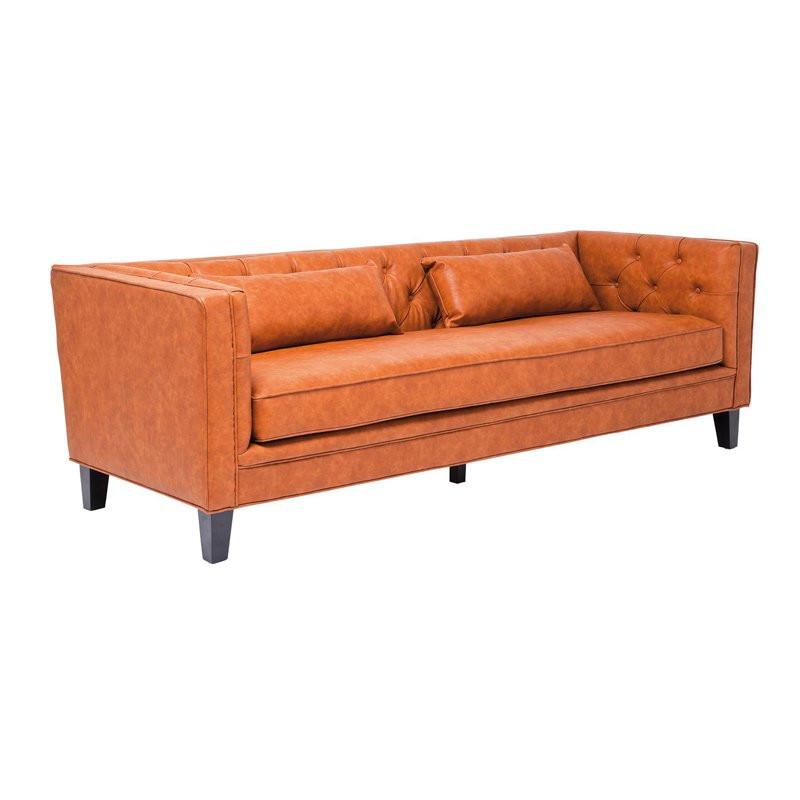 bruine design bank 3 zits kare design texas. Black Bedroom Furniture Sets. Home Design Ideas