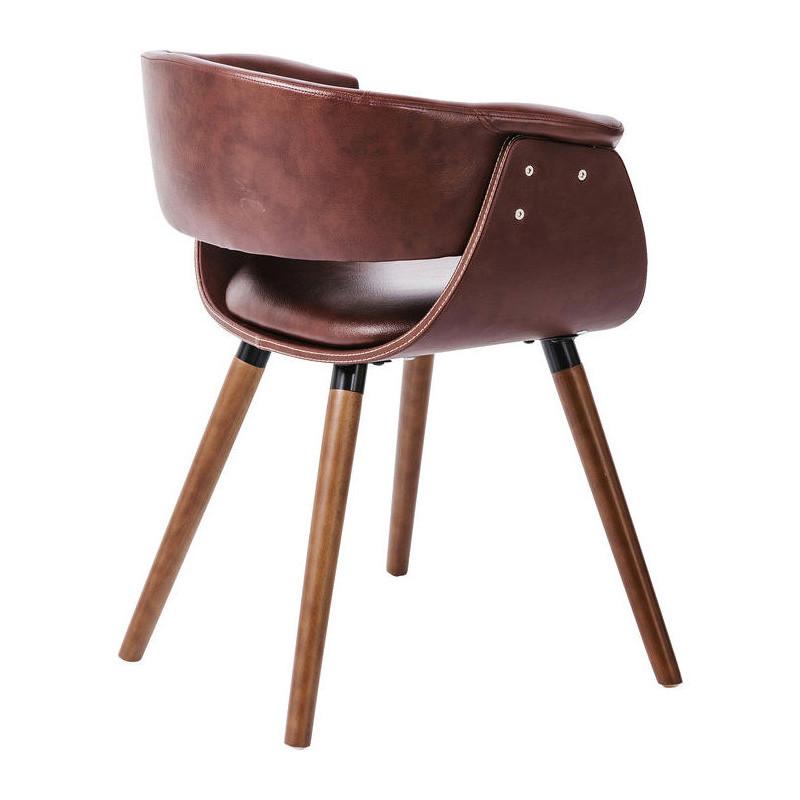 Bruine leren stoel kare design monaco for Bruine leren stoel
